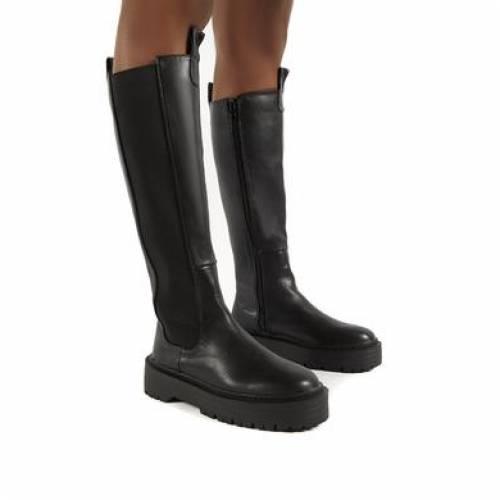 <title>ファッションブランド カジュアル ファッション スニーカー 保障 パブリックディザイア PUBLIC DESIRE 黒色 ブラック ハイ ブーツ ANDI BLACK KNEE HIGH CHUNKY SOLE BOOTS</title>