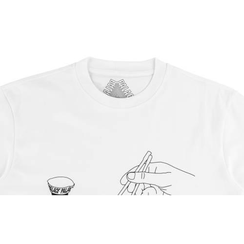 PALACE Tシャツ 白 ホワイト 【 WHITE PALACE CHOPSTICKS TSHIRT 】 メンズファッション トップス Tシャツ カットソー