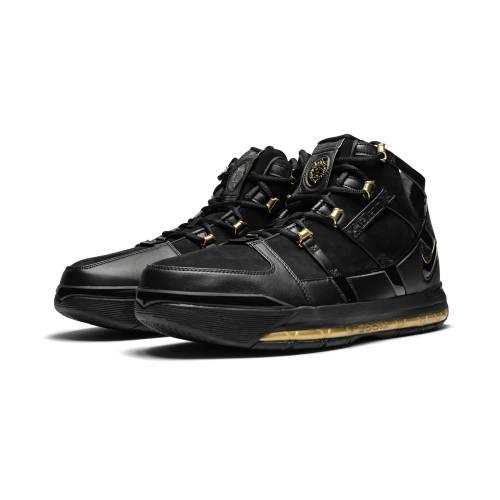 ナイキ NIKE ズーム レブロン 黒 ブラック 金色 ゴールド スニーカー 【 ZOOM BLACK NIKE LEBRON 3 QS BLACKMETALLIC GOLD 】 メンズ スニーカー