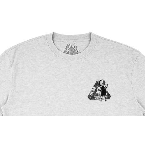 PALACE フィギュア Tシャツ 灰色 グレ 【 PALACE U FIGURE TSHIRT GREY MARL 】 メンズファッション トップス Tシャツ カットソー