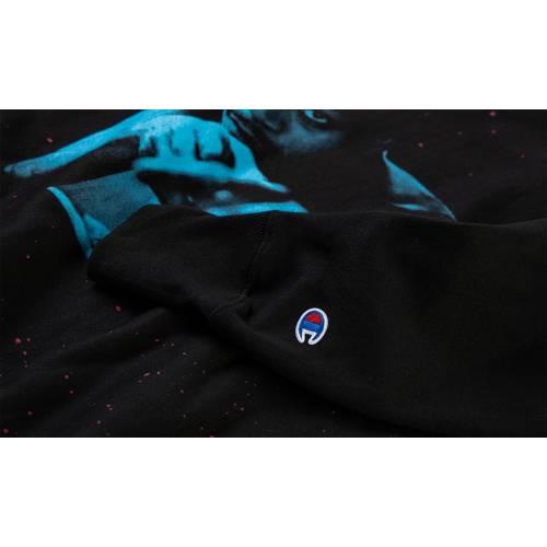 KIDCUDI 青 ブルー 黒 ブラック スニーカー 【 BLUE BLACK KIDCUDI PHOTO CREWNECK 】 メンズ スニーカー