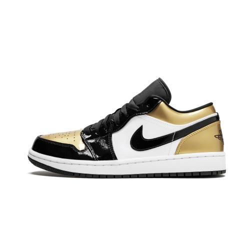 """ナイキ ジョーダン JORDAN エア Low""""gold Toe"""" スニーカー メンズ 【 Air 1 Low""""gold Toe"""" 】 Black/gold-black"""