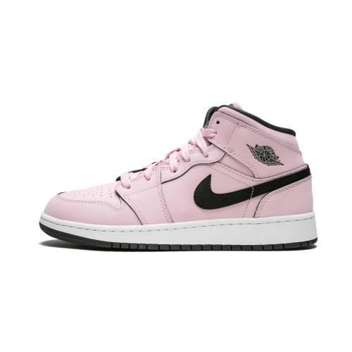 【スーパーセール中! 6/11深夜2時迄】ナイキ ジョーダン JORDAN エア ミッド スニーカー メンズ 【 Air 1 Mid (gs) 】 Pink Foam/black-white