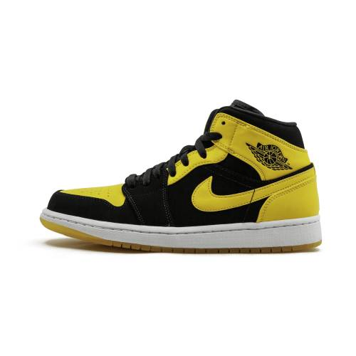 "ナイキ ジョーダン JORDAN エア Mid""new Release"" スニーカー メンズ 【 Air 1 Mid""new Love 2017 Release"" 】 Black/varsity Maize-white"