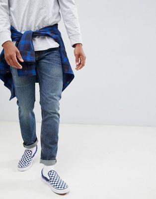 【海外限定】スリム ビンテージ ヴィンテージ メンズファッション ズボン 【 SLIM VINTAGE LEE RIDER JEANS WASH 】