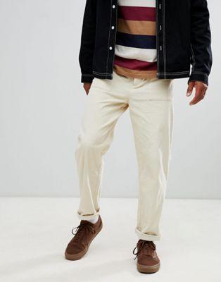 【海外限定】パンツ メンズファッション 【 ASOS DESIGN RELAXED TROUSERS IN BEIGE CORD 】