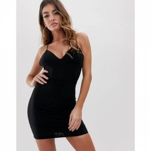 ドレス 黒 ブラック レディースファッション ワンピース 【 BLACK FASHIONKILLA MINI CAMI DRESS IN 】