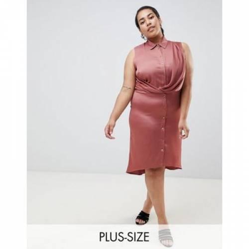 ラップ ドレス レディースファッション ワンピース 【 WRAP RIVER ISLAND PLUS FRONT SHIRT DRESS IN RUST 】
