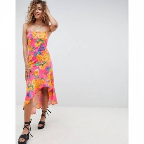 ドレス レディースファッション ワンピース 【 ASOS DESIGN HI LO HEM CAMI MAXI DRESS IN BRIGHT FLORAL 】