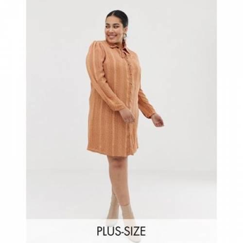 ドレス レディースファッション ワンピース 【 GLAMOROUS CURVE SHIRT DRESS WITH RIBBON TIE IN SUBTLE SPOT 】