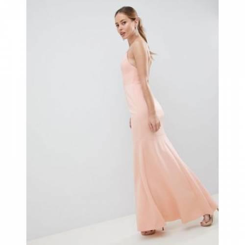 ドレス レディースファッション ワンピース 【 ASOS DESIGN DROP WAIST SCUBA CAMI MAXI DRESS 】