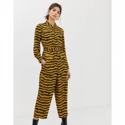 レディースファッション オールインワン サロペット 【 WHISTLES LIMITED MILLA JUMPSUIT IN ANIMAL PRINT 】