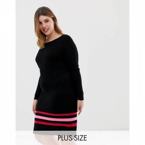 【海外限定】ドレス ストライプ レディースファッション ワンピース 【 STRIPE JUNAROSE JUMPER DRESS WITH HEM 】