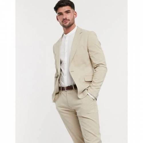 メンズファッション コート ジャケット 【 ASOS DESIGN SKINNY SUIT JACKET IN PUTTY 】 ※セットアップではありません