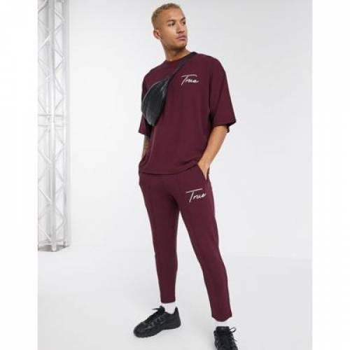 Tシャツ メンズファッション トップス スウェット トレーナー 【 ASOS DESIGN COORD OVERSIZED HEAVYWEIGHT TSHIRT WITH CHEST TEXT PRINT 】