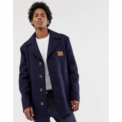 メンズファッション コート ジャケット 【 LOVE MOSCHINO OVERCOAT WITH PLACKET 】