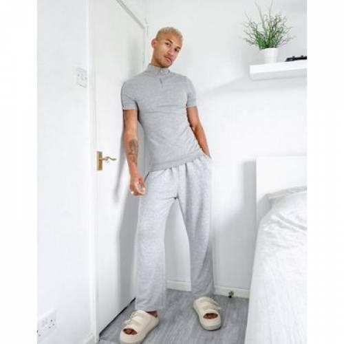 Tシャツ 灰色 グレ メンズファッション トップス スウェット トレーナー 【 ASOS DESIGN ORGANIC HEAVY WEIGHT TSHIRT IN GREY MARL 】