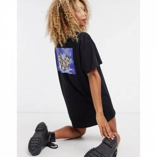Tシャツ ドレス レディースファッション 【 NEW GIRL ORDER KITTENS BACK PRINT TSHIRT DRESS 】