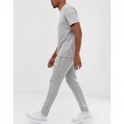 【海外限定】オリジナルス スリム ロゴ GRAY灰色 グレイ メンズファッション ズボン パンツ 【 SLIM GREY ADIDAS ORIGINALS JOGGERS FIT WITH LOGO EMBROIDERY 】
