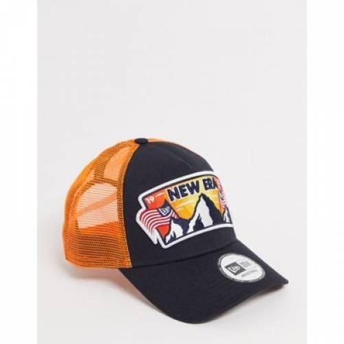 トラッカー キャップ 帽子 黒 ブラック バッグ メンズキャップ 【 BLACK NEW ERA BEACH TRUCKER CAP IN 】