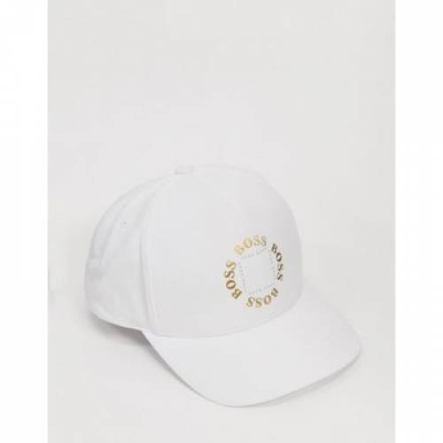 キャップ 帽子 白 ホワイト バッグ メンズキャップ 【 WHITE BOSS ATHLEISURE CIRCLE CAP IN 】