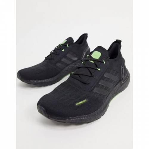 スニーカー 黒 ブラック 緑 グリーン S.RDY & メンズ 【 BLACK GREEN ADIDAS ULTRABOOST TRAINERS IN SIGNAL 】