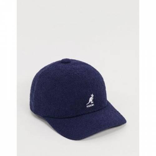 ベースボール キャップ 帽子 紺 ネイビー バッグ メンズキャップ 【 NAVY KANGOL BERMUDA BASEBALL CAP IN 】