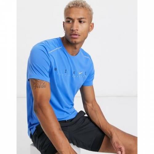 Tシャツ 青 ブルー メンズファッション トップス カットソー 【 BLUE NIKE RUNNING MILER TSHIRT IN 】
