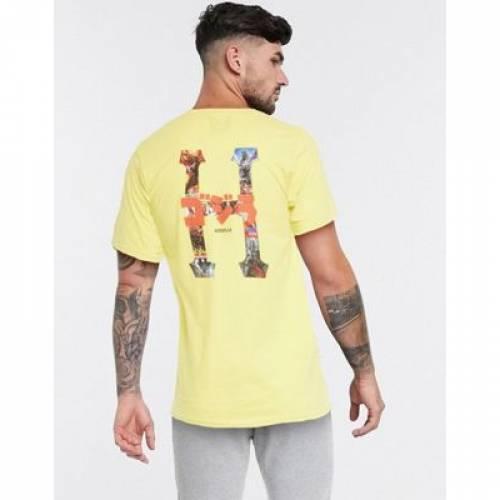 ハフ クラシック Tシャツ 黄色 イエロー メンズファッション トップス カットソー 【 HUF YELLOW X GODZILLA CLASSIC H TSHIRT IN 】