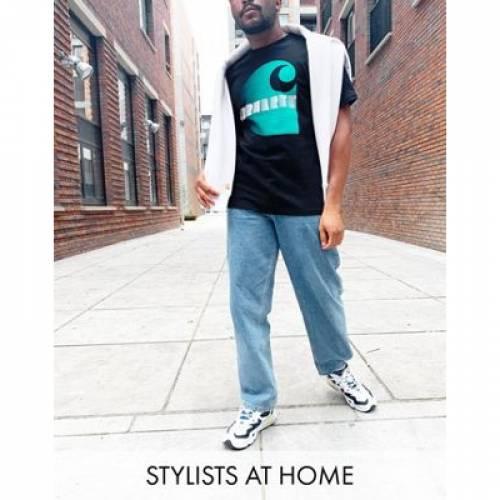 Tシャツ 黒 ブラック メンズファッション トップス カットソー 【 BLACK CARHARTT WIP ILLUSION TSHIRT IN 】