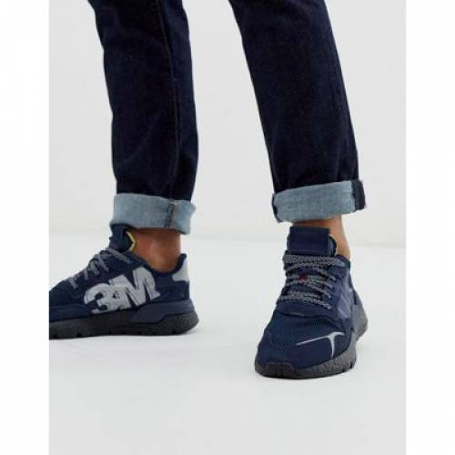 紺 ネイビー メンズ スニーカー 【 NAVY ADIDAS ORIGINALS NITE JOGGERS TRAINERS IN 】