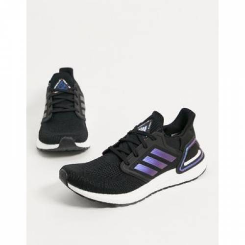 黒 ブラック 青 ブルー メンズ スニーカー 【 BLACK BLUE ADIDAS ULTRABOOST 20 TRAINERS IN WITH DETAIL 】