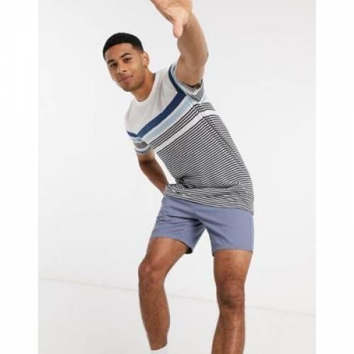 Tシャツ 青 ブルー ストライプ & メンズファッション トップス カットソー 【 BLUE STRIPE JACK JONES TSHIRT IN BLOCK 】