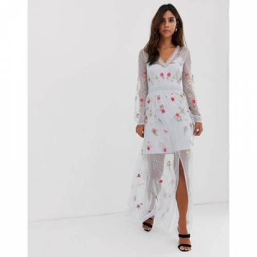 ドレス レディースファッション ワンピース 【 FRENCH CONNECTION CHRISTY BLOOM EMBROIDERED MAXI DRESS 】