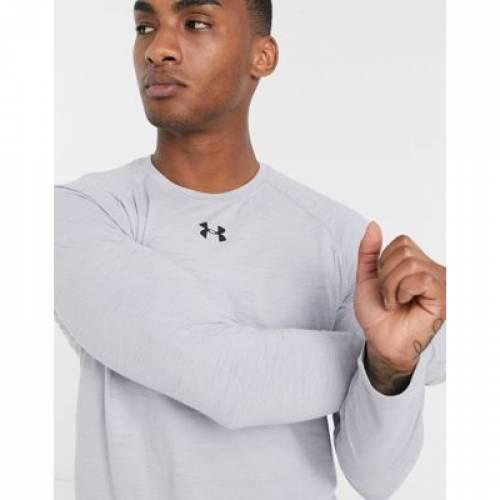 スリーブ Tシャツ 灰色 グレ メンズファッション トップス カットソー 【 SLEEVE UNDER ARMOUR CHARGED COTTON LONG TSHIRT IN GREY 】
