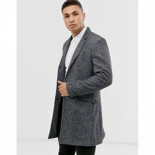 ジャージ 灰色 グレ & メンズファッション コート ジャケット 【 ONLY SONS JERSEY OVERCOAT IN DARK GREY 】