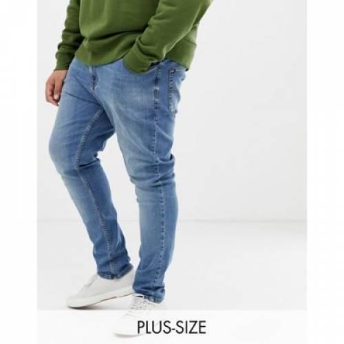 青 ブルー ミッド メンズファッション ズボン パンツ 【 BLUE COLLUSION PLUS X001 SKINNY JEANS IN MID WASH 】