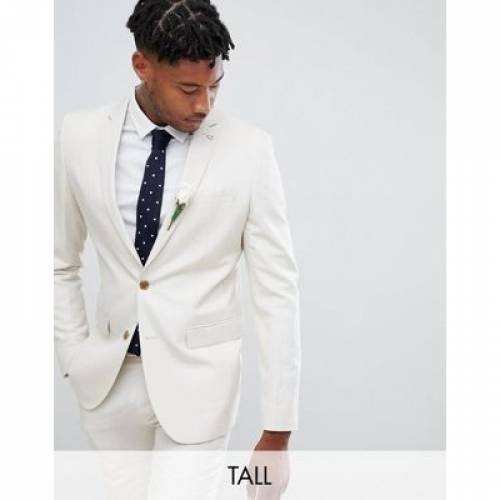 メンズファッション コート ジャケット 【 FARAH SKINNY WEDDING SUIT JACKET IN LINEN 】 ※セットアップではありません