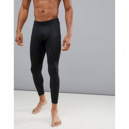 タイツ 黒色 ブラック スポーツ アウトドア ジョギング マラソン メンズ 【 TIGHTS NEW LOOK SPORT RUNNING IN BLACK 】