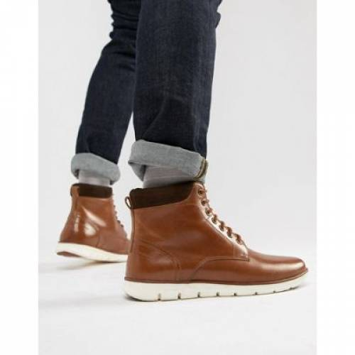 ハイブリッド レザー メンズ ブーツ 【 HYBRID KG BY KURT GEIGER GREGORY SOLE LEATHER CUFF BOOTS 】