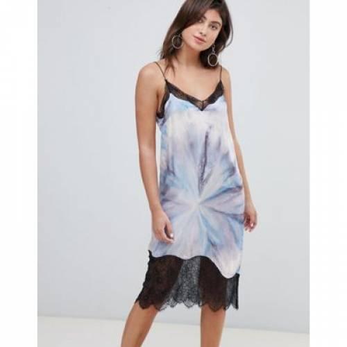 ドレス レディースファッション ワンピース 【 MANGO PRINTED LACE TRIM CAMI DRESS 】