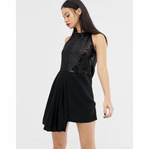 ドレス レディースファッション ワンピース 【 UNIQUE21 PANEL SEQUIN COLUMN MINI DRESS 】