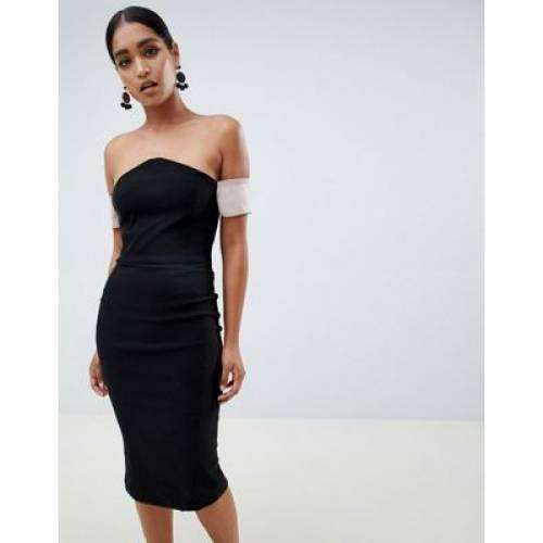 ドレス レディースファッション ワンピース 【 VESPER V BARDOT PENCIL DRESS 】