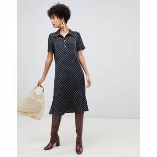 ドレス レディースファッション ワンピース 【 VERO MODA SPOT MIDI SHIRT DRESS 】