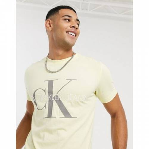 Tシャツ メンズファッション トップス カットソー 【 CALVIN KLEIN JEANS VEGETABLE DYE MONOGRAM TSHIRT 】
