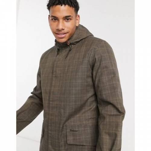 茶 ブラウン メンズファッション コート ジャケット 【 BROWN BARBOUR AUDELL WATERPROOF TARTAN JACKET IN 】