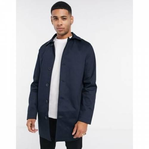 紺 ネイビー メンズファッション コート ジャケット 【 NAVY SELECTED HOMME MAC IN 】