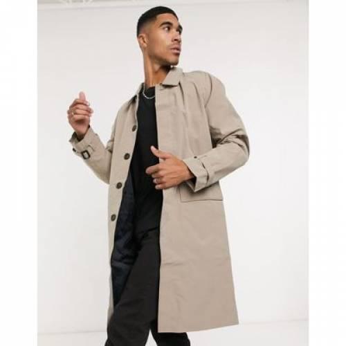 & メンズファッション コート ジャケット 【 JACK JONES ORIGINALS MAC WITH CHECK BACK IN BEIGE 】