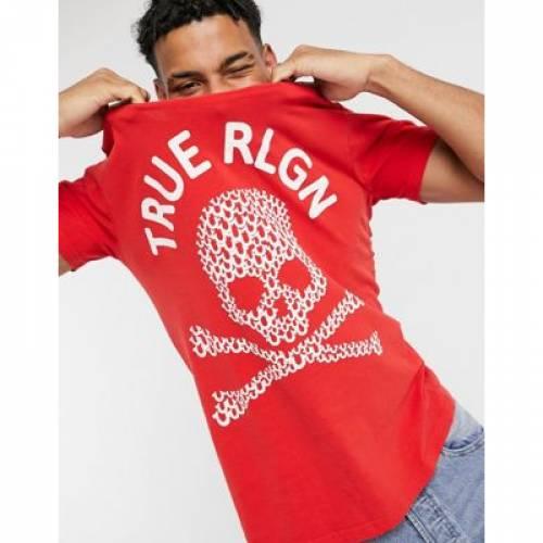 Tシャツ メンズファッション トップス カットソー 【 TRUE RELIGION SKULL PRINT CREW NECK TSHIRT 】