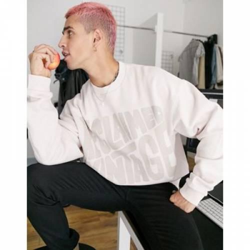 その他ファッションブランド カジュアル ファッション そのた ビンテージ ヴィンテージ ロゴ メンズファッション トップス 国内正規総代理店アイテム スウェット VINTAGE INSPIRED トレーナー RECLAIMED SEWAT LOGO PRINT PUFF 毎日激安特売で 営業中です IN ECRU